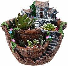 Qagazine Planter Flower Plant Pots Fairy Garden