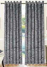 Qaisiria Crushed Velvet Curtains Eyelet Ring Top