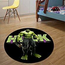 QALLP Circular Area Rug Style Washable Hulk