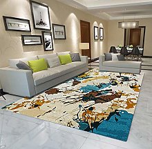 QAQV Colorful Large Carpets For Living Room