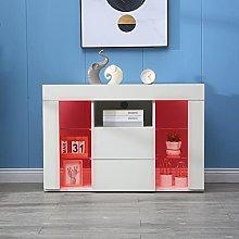 QAQZ Corner TV Unit Stand with High Gloss LED