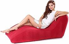 QARYYQ Portable Inflatable Sofa, Flocked S-shaped