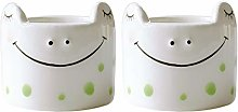 QAX Funny Egg Cup Set White made of Porcelain for
