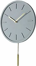 QAZ Wall Clock Modern Pendulum Clock Concrete And