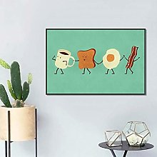 QAZEDC Canvas decorative paintingCute Style Cup