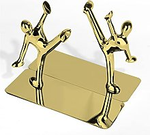 QAZOKM Bookends Creative Stainless Steel Metal