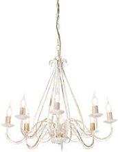 Qazqa - Antique chandelier cream 8-light -