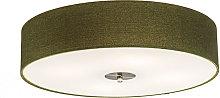 Qazqa - Country Ceiling Lamp 50cm Green - Drum Jute