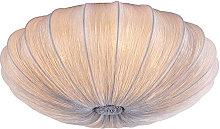 Qazqa - Design ceiling lamp gray silk 60 cm - Plu