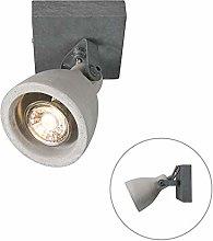 QAZQA Industrial Industrial Spotlight Ceiling Gray