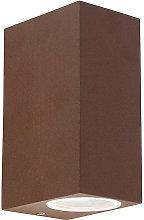 Qazqa - Industrial Wall Lamp Rust-Brown IP44 -