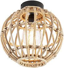 Qazqa - National ceiling lamp bamboo - Canna