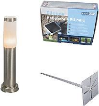 Qazqa - Outdoor lamp post steel 45 cm IP44 - Rox
