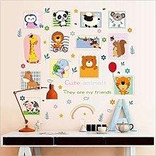 Qazwsxedc Cartoon Animal Stickers Children's