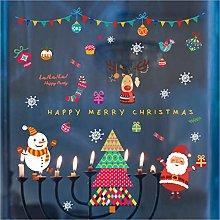 Qazwsxedc Christmas New Santa Claus Glass Cabinet