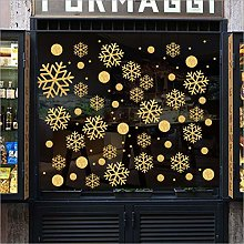 Qazwsxedc Christmas Sand Golden Snowflake Cabinet