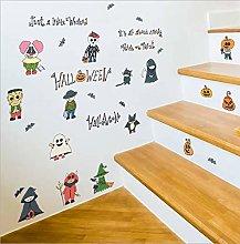 Qazwsxedc Halloween Cartoon Combination Bedroom