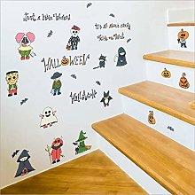 Qazwsxedc Halloween Series Wall Stickers Bedroom