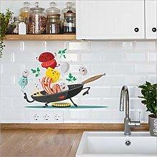Qazwsxedc Joyful Pan Creative Wall Stickers