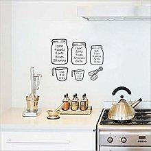 Qazwsxedc Kitchen Baking Measuring Cup Black Wall