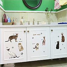 Qazwsxedc New Cat Combination Wall Sticker Cabinet
