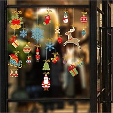 Qazwsxedc New Christmas Hanging Glass Window