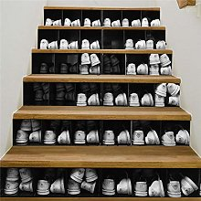 Qazwsxedc Shoe Cabinet Stairs Stickers Home Wall