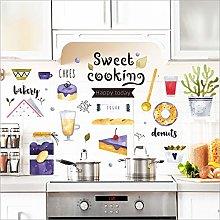 Qazwsxedc Wall Sticker Cartoon Food Sign Kitchen