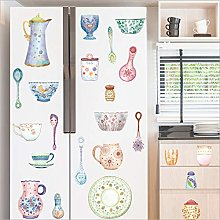Qazwsxedc Wall Stickers Kitchen Refrigerator