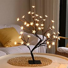 QBCNM 24 LED Table Lamp, Tree Branch Lights Desk
