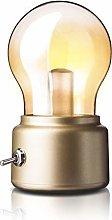 QBCNM Vintage Bulb Night Lights Portable LED Table