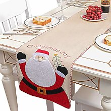 QBLDX Christmas Decoration Table Runner, Linen