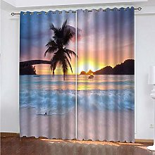 QCTTBD Curtains For Living Room Bedroom Curtains