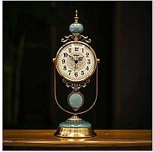 qddan Marble Mantel Clock With Pendulum Arabic