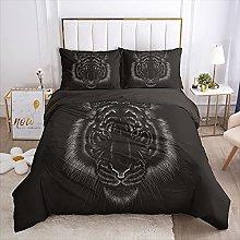 QDoodePoyer Duvet Cover Set Double Bed 3PCS Black