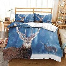 QDoodePoyer Duvet Cover Set Double Bed 3PCS Blue