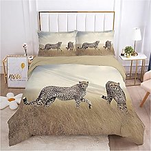 QDoodePoyer Duvet Cover Set Double Bed 3PCS Brown