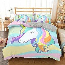 QDoodePoyer Duvet Cover Set Double Bed 3PCS Color