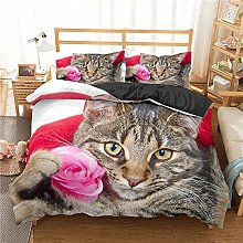 QDoodePoyer Duvet Cover Set Double Bed 3PCS Cute