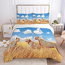 QDoodePoyer Duvet Cover Set Double Bed 3PCS Golden
