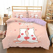 QDoodePoyer Duvet Cover Set Double Bed 3PCS Pink