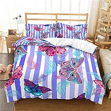 QDoodePoyer Duvet Cover Set Double Bed 3PCS Purple