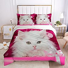 QDoodePoyer Duvet Cover Set Double Bed 3PCS White