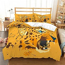 QDoodePoyer Duvet Cover Set Double Bed 3PCS Yellow