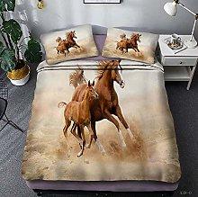 QFAZO 3D Bedding Set Suit Yellow Land Sand Animal