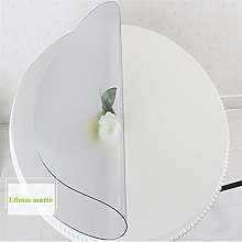 QFDM Tablecloth PVC Round Transparent Table Cover