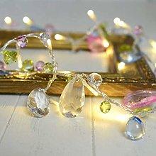 QFL Led Curtain Lights,Crystal Beaded Light