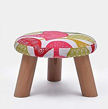 QFLY Creative Upholstered Footstool Fabric Bench