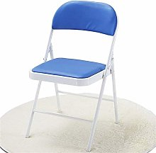 QFLY Folding Office Chair Blue Bar Stool Faux