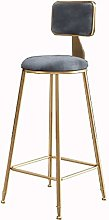 QFLY Nordic Ins Simple Stool Golden Bar Chair